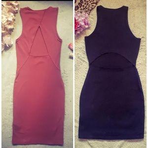 2 Open back dresses♡